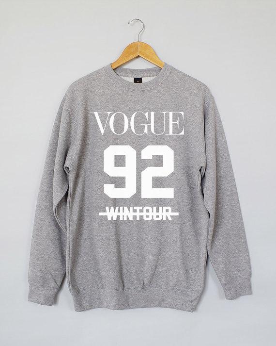 Vogue 92 wintour sweatshirt. vogue 92 wintour sweater. vogue 92 wintour jumper. vogue sweater. vogue jumper. vogue sweatshirt.