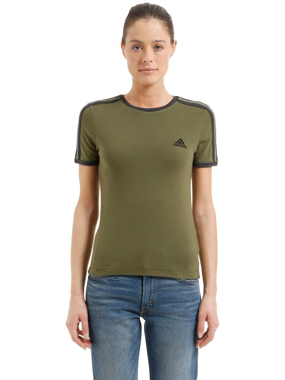 YEEZY Baby Fit Cotton Jersey T-shirt in black / green