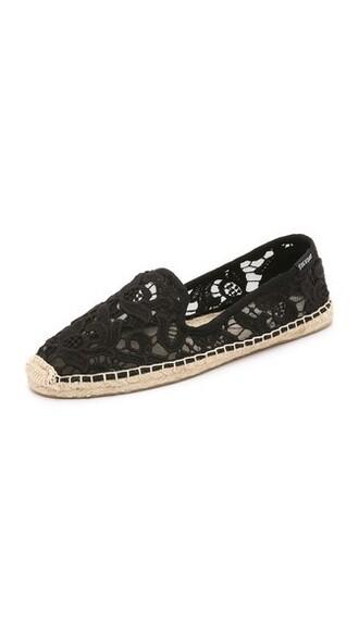 espadrilles lace black shoes