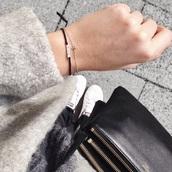 jewels,small,little,cute,black,grey,bracelets,skull