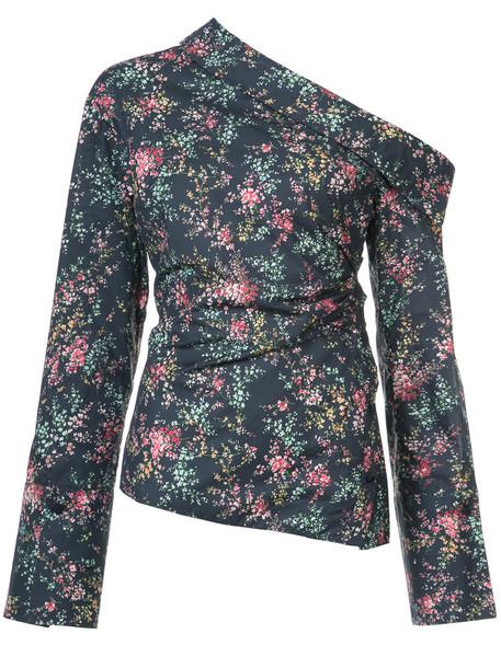 Hellessy blouse women cotton blue top