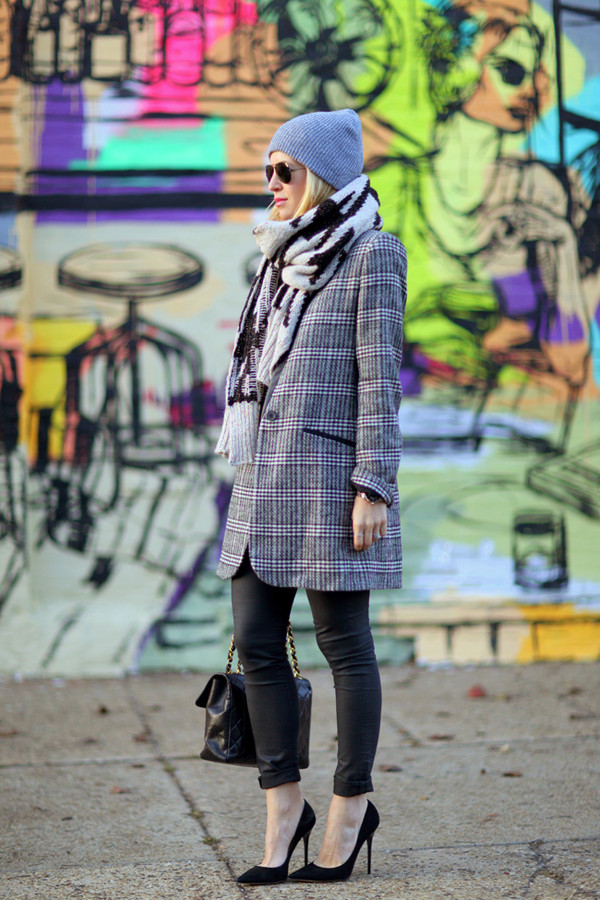 brooklyn blonde jacket pants hat shoes scarf