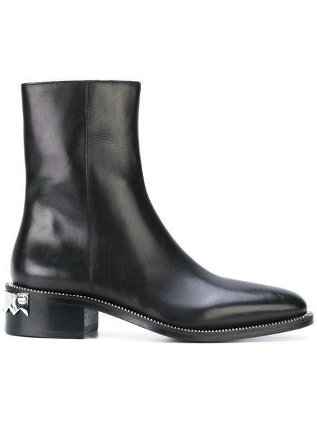 sparkle women trap leather black shoes