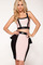 Drain the waist strap pink black sequined two