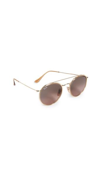 Ray-Ban Aviator Sunglasses in gold / green