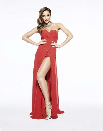 dress prom gown gown prom dress jessica alba sandals bustier dress red dress slit dress