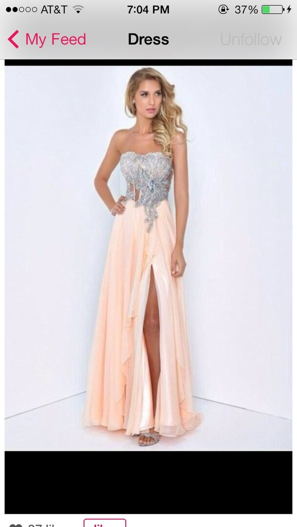 dress peach dress silver prom dress long prom dress long prom dress