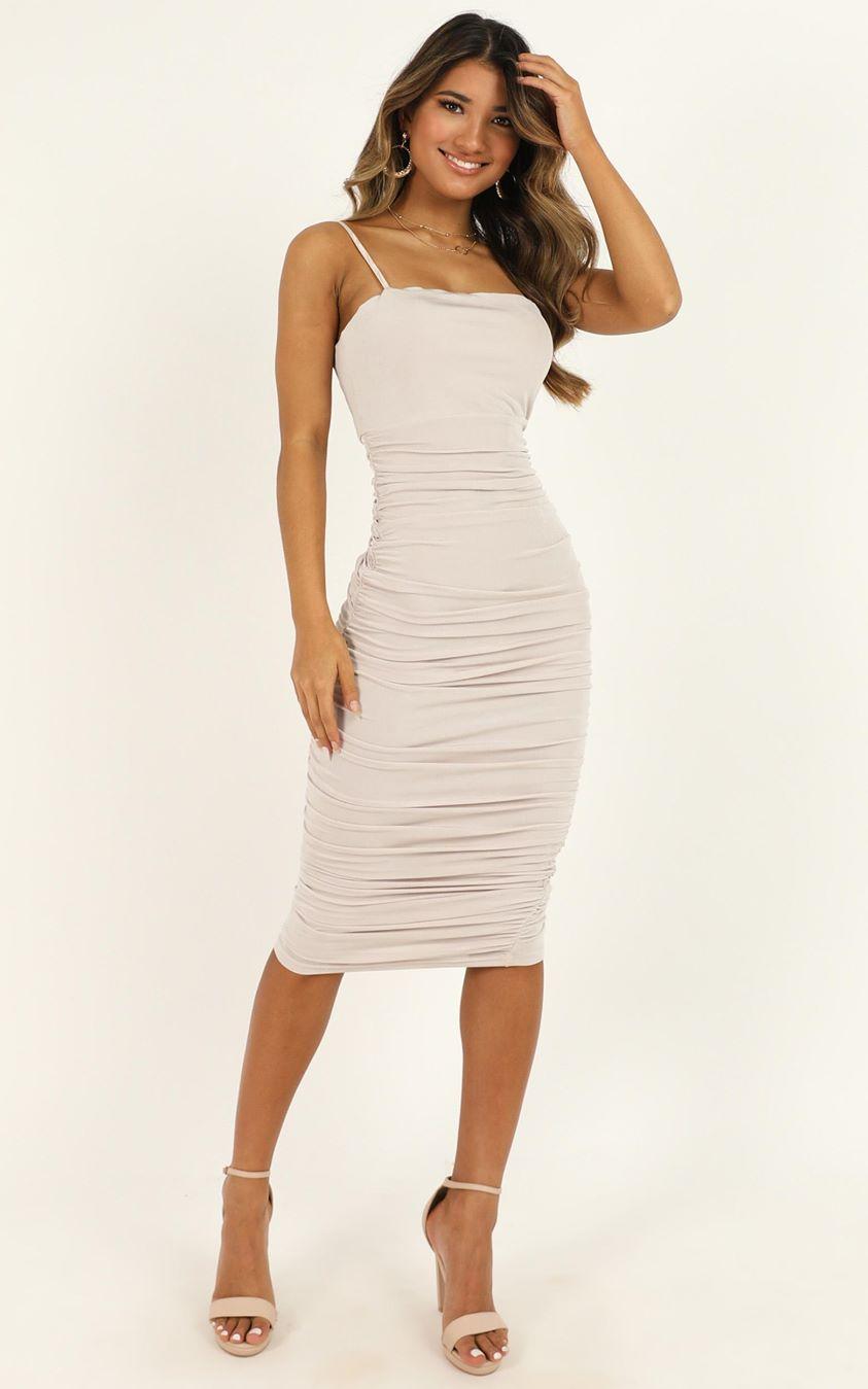 Showpo Commit To Me Maxi Dress in stone - 6 (XS) Dresses