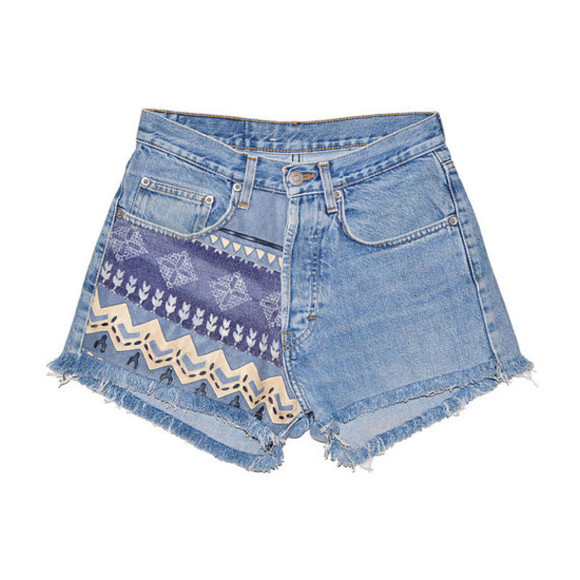ethnic shorts jeans high waisted short