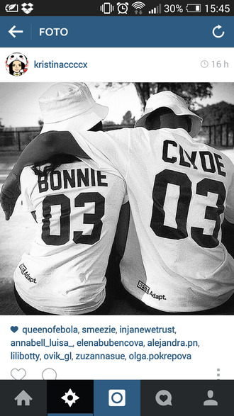 bonnie clyde 03 jay z shirt couple couples sweet hot