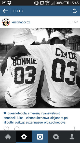 Jay Z shirt bonnie clyde 03 couple sweet hot