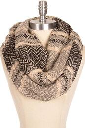 scarf,classic fair isle pattern infinity chunky scarf