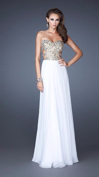 dress beautiful white sequins prom homecoming dress aliexpress white prom dress gown prom dress
