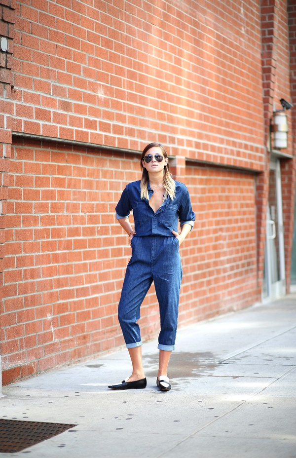 we wore what blogger jumpsuit shoes
