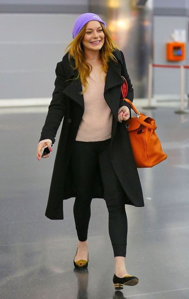 lindsay lohan fall outfits coat shoes