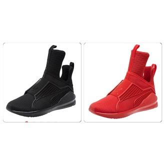 shoes rihana fenty x puma white red black puma puma sneakers rihanna pumas puma x rihanna black shoes white shoes high top sneakers