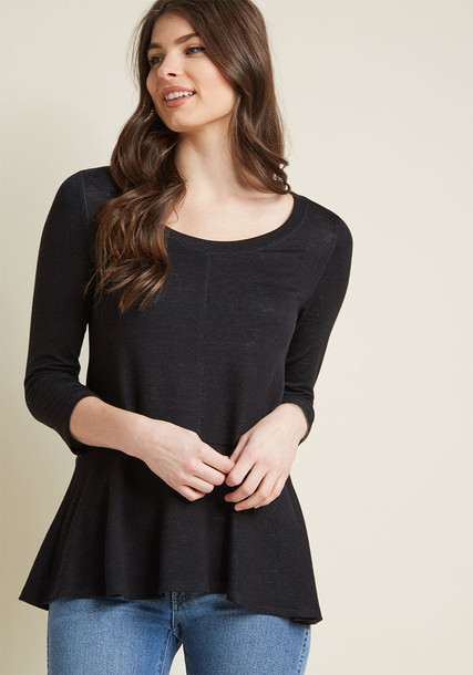 Modcloth top knit black