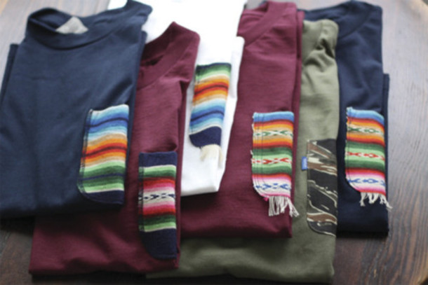 sweater guys print clothes warm sweater dark blue red boyfriend sweater long sleeves pullover winter outfits