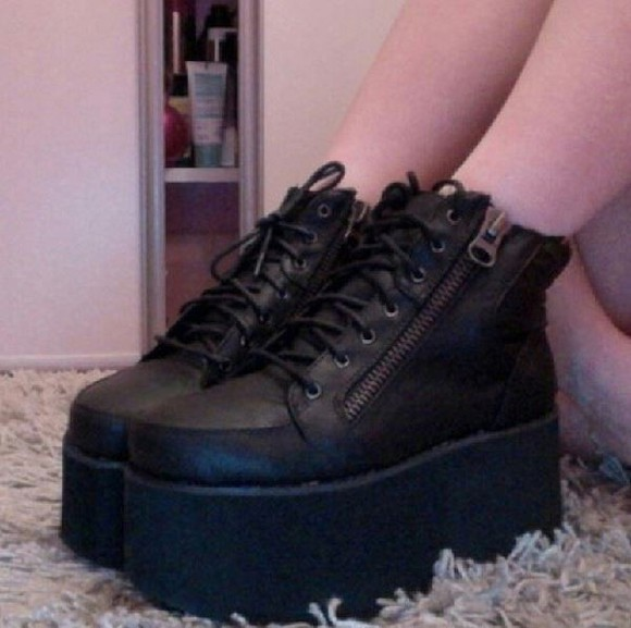tumblr shoes kawaii goth platform shoes platform sneakers pastel goth pastel grunge hipster tumblr shoes