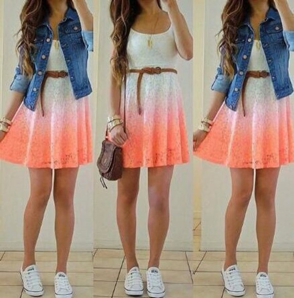 lovely beauty fashion shopping hippie pink dress summer dress jewels dress bag wonderful jacket denim jacket socute colorful dress jeanjacket adorable cute white fashion denim