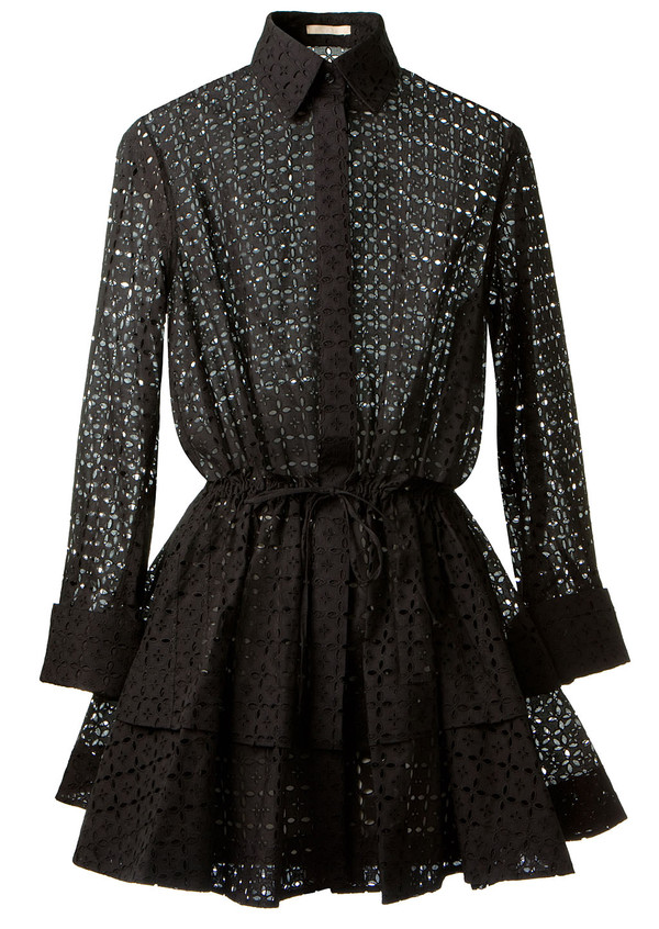 dress azzedine alaïa black shirt-dress