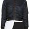 Balenciaga black scarf bomber jacket