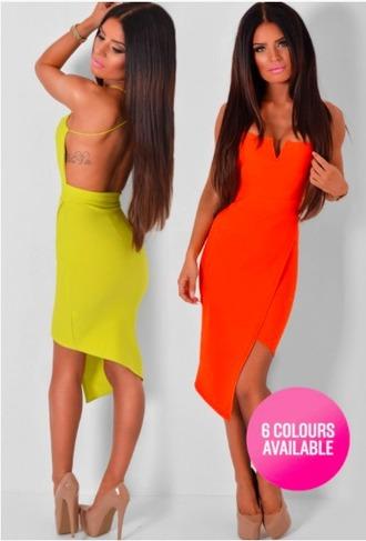 dress asymmetrical backless dress wrapover vneck dress