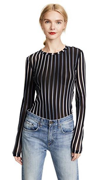 Diane Von Furstenberg pullover long mesh black sweater