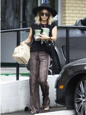michael lauren pants,divergence clothing,leopard print pants,boho,boho chic,vanessa hudgens,animal print,wide-leg pants,palazzo pants,hipster,pants