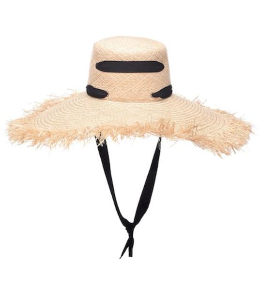 Lola Hats Alpargatus Bis raffia hat in beige / beige