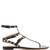 Rockstud flat leather sandals