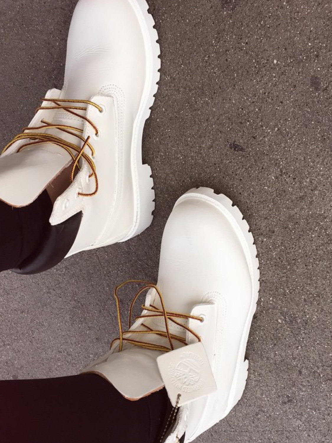 All White Custom Timberland Boots Adult