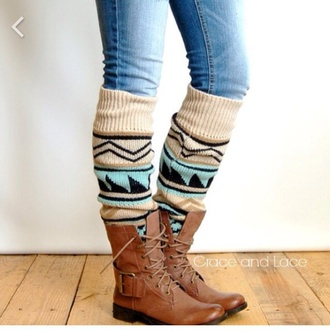 socks tribal pattern vintage socks boots leather boots brown boots shoes