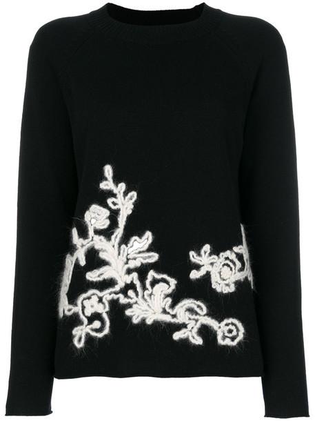 sweater women black wool