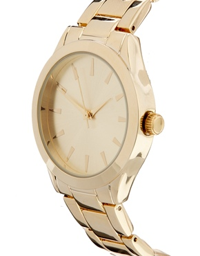 ASOS | ASOS Gold Sleek Boyfriend Watch at ASOS