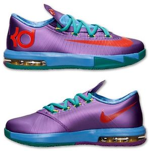 "Nike Basketball KD 6 Kevin Durant ""Rugrats"" Sz 4Y 7Y DS Purple Free Shipping 