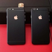 phone cover,black matt gold iphone 6 cover,iphone case,black case,cool stuff,black,iphone cover