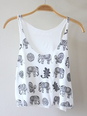 tank top,crop,crop tops,white,black,elephant,love junkee,sway,shirt,t-shirt,top,white tank top,cute,white crop tops,blouse,paisley,pattern,black and white,summer outfits,orient,elephant print,elephant shirt,summer shirt,vest,tribal elephant,tribal elephant shirt,style,henna shirt,white t-shirt,black top,pretty,summer elephants,summer top,white top,white tank top with elephants,printed crop top,?l?phant blue white,blue top,indian print,indian print top,mandala,hippie,boho,bohemian,gypsy,fashion,summer,spring,hipster,alternative,elephant top,éléphant,peace sign,beautiful,wanted,love,flowers,print,tumblr,outfit,t-shirt imprimé,fleurie,noir,elefant shirt,elefanth,printed top,boho shirt,casual