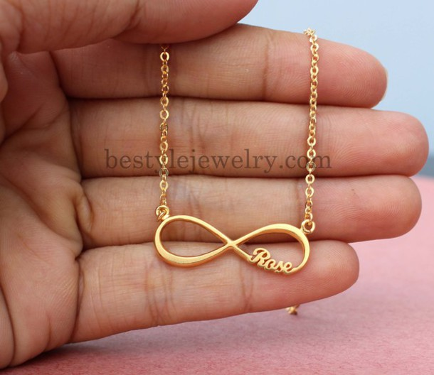 Infinity nameplate pendant personalized gifts promise necklace infinity nameplate pendant personalized gifts promise necklace name necklace gifts 18k gold plated aloadofball Images