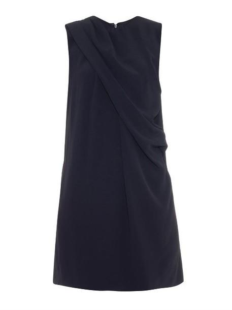 RAEY Drape-front crepe tunic dress in navy