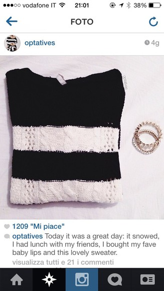 fashion vibe sweater white black winter sweater jewellary