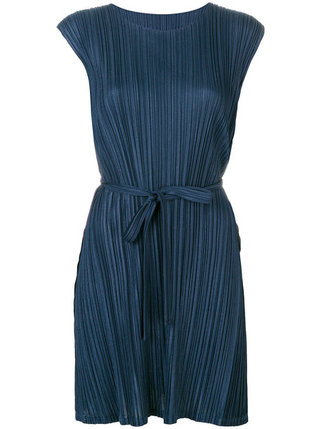 Pleats Please By Issey Miyake blouse pleated women blue top