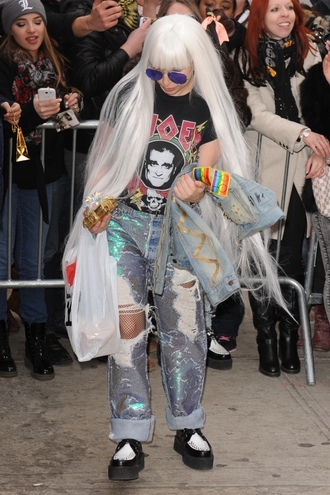 jeans mermaid celebrity style lady gaga