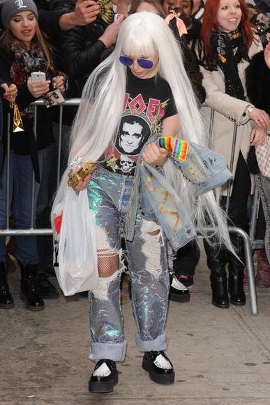 lady gaga mermaid jeans celebrity style