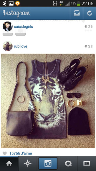 tiger dress black face