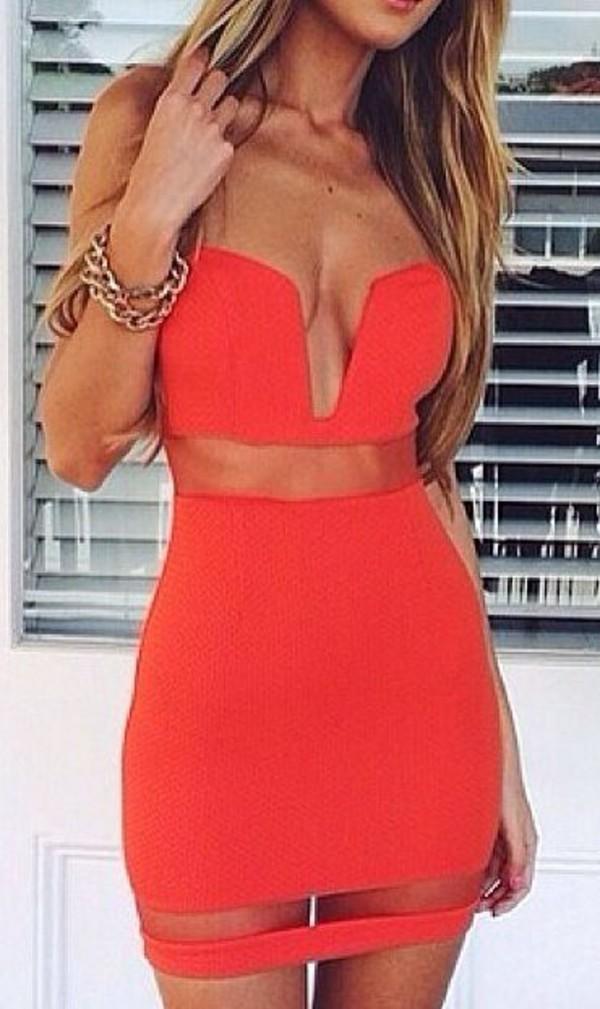 red dress bodycon dress