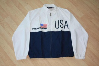jacket white polo sport polo usa ralph lauren polo polo shirt