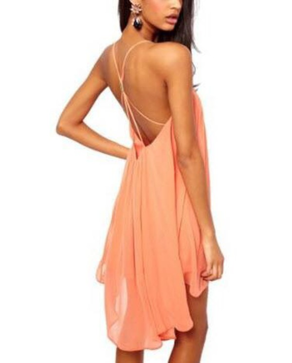 dress peach dress peach dress light pink light pink dress thin summer dress thin straps long dress