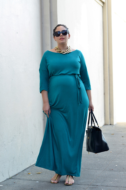 dress, teal, plus size maternity, maternity, maternity dress, curvy ...