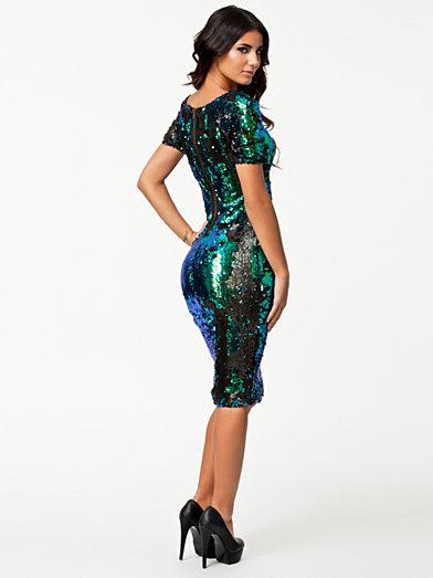 Irrestin Sequins Midi Dress - Ax Paris - Blauw - Feestjurken - Kleding - Zij - Nelly.com